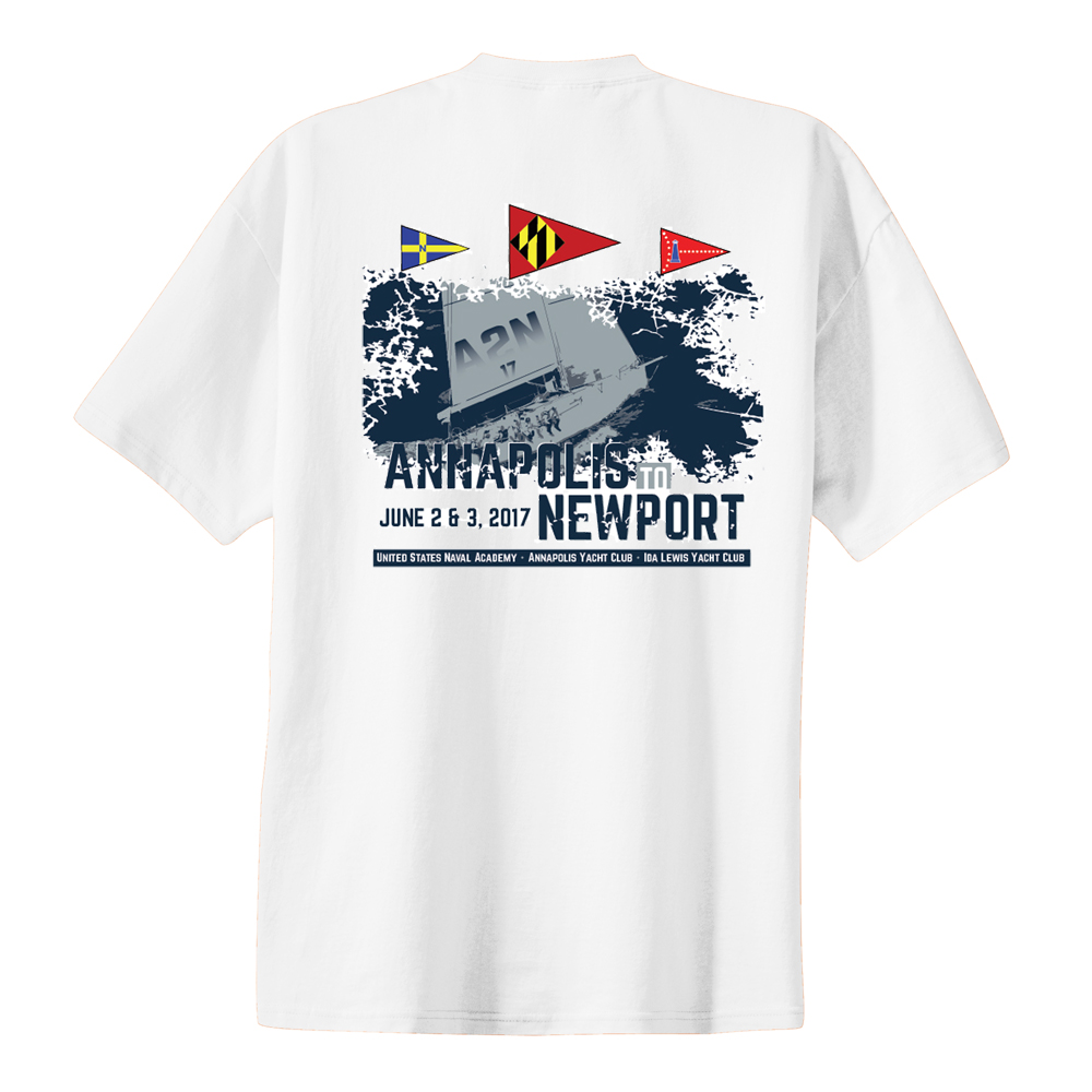 Annapolis to Newport 2017 - Men's Short Sleeve Cotton Tee