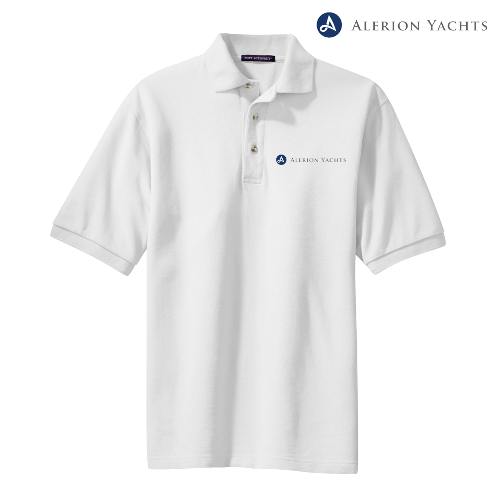 ALERION YACHT M'S COTTON POLO
