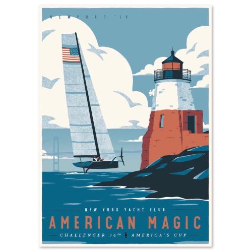 American Magic Poster 2019- Design 1