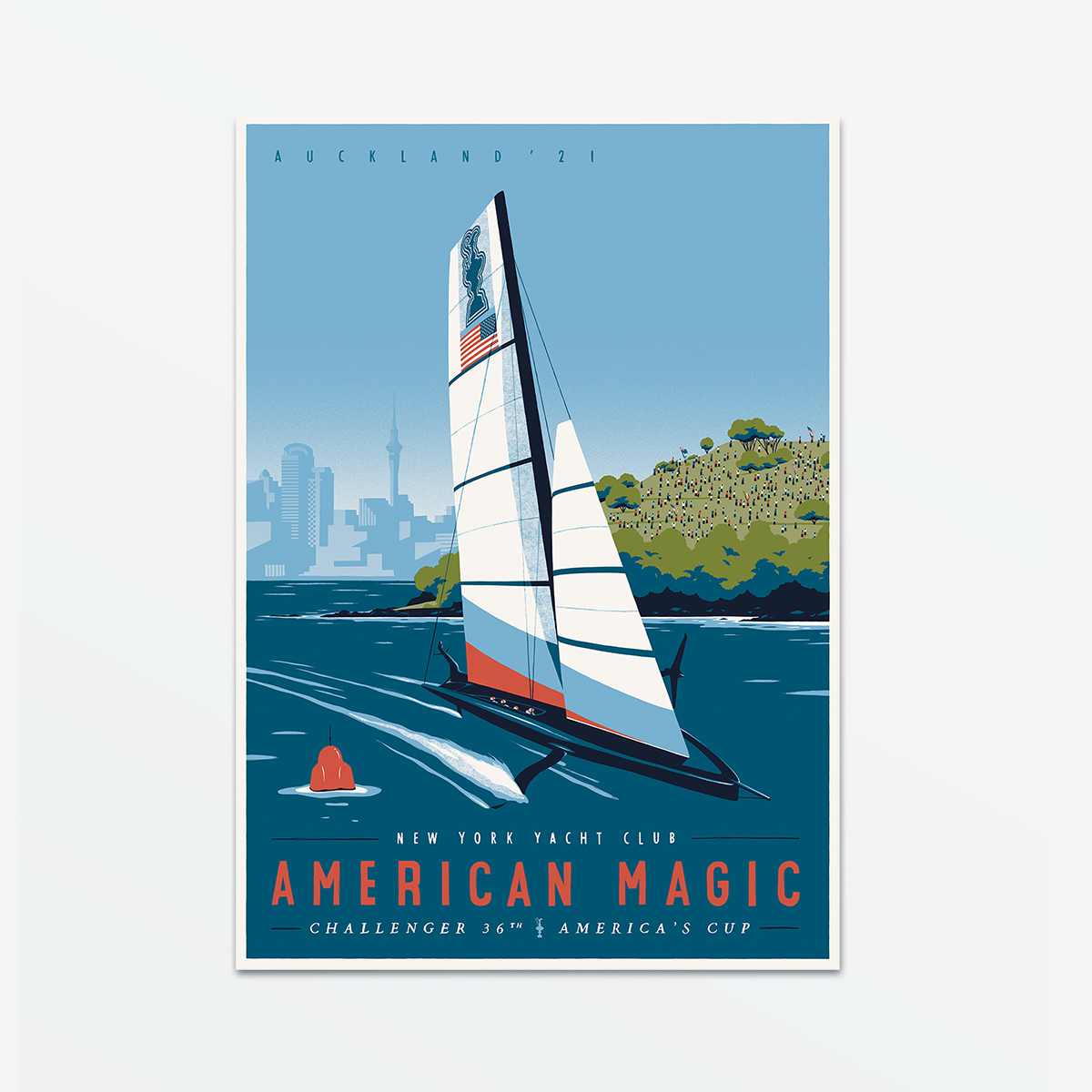 American Magic Poster - Auckland '21