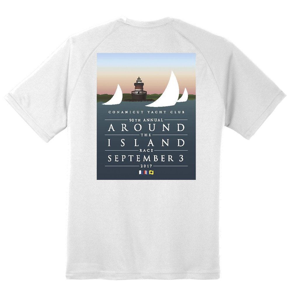 2017 AROUND THE ISLAND - M'S S/S TECH TEE