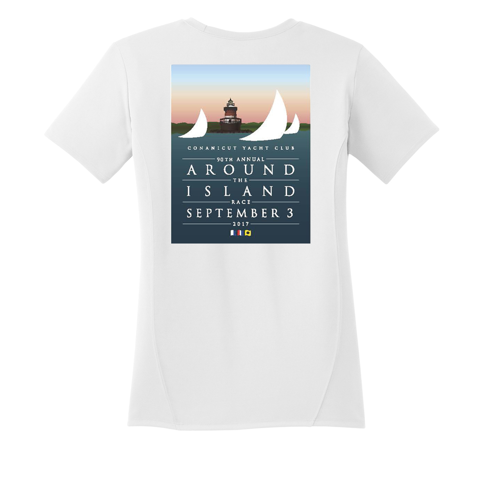 AROUND THE ISLAND - WOMEN'S TECH TEE