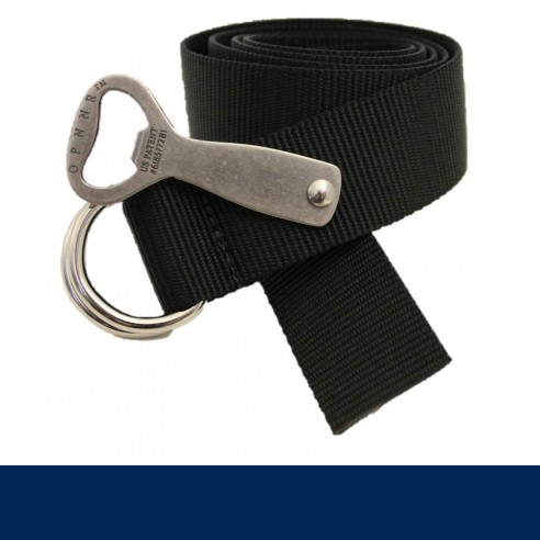 THOMAS BATES OPNNR WEB BELT WITH D-RINGS AND BOTTLE OPENER (3050)