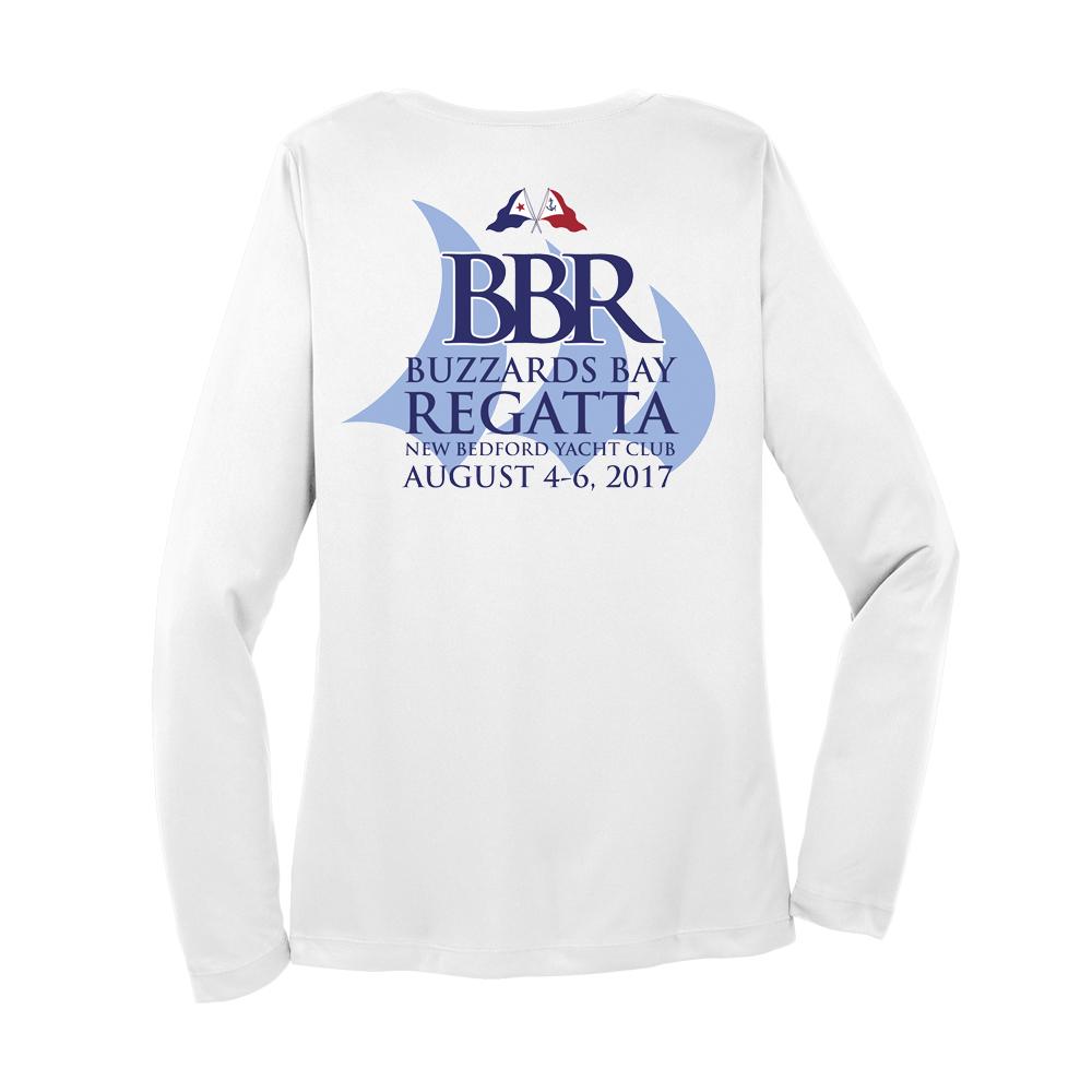 2017 Buzzards Bay Regatta - Women's Long Sleeve V-Neck Tech Tee