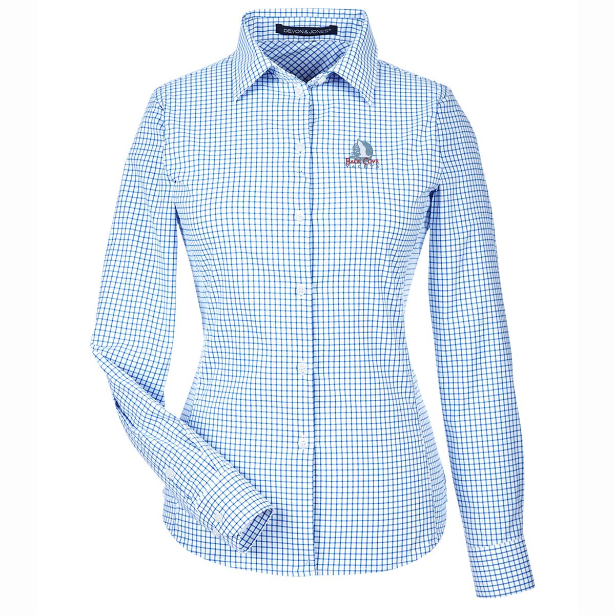 Back Cove Yachts - Women's Crown Lux Perfect Window Pane Shirt