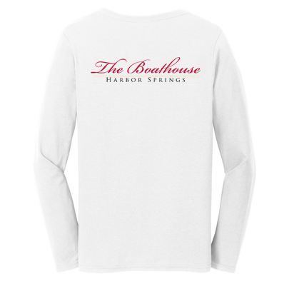 BOATHOUSE OF HARBOR SPRINGS WOMEN'S LONG SLEEVE COTTON TEE