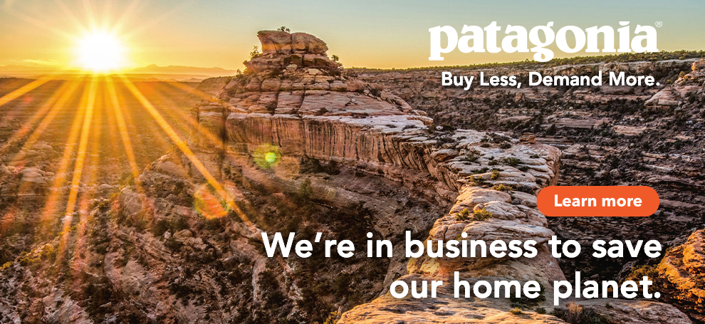 Patagonia Buy Less, Demand More.