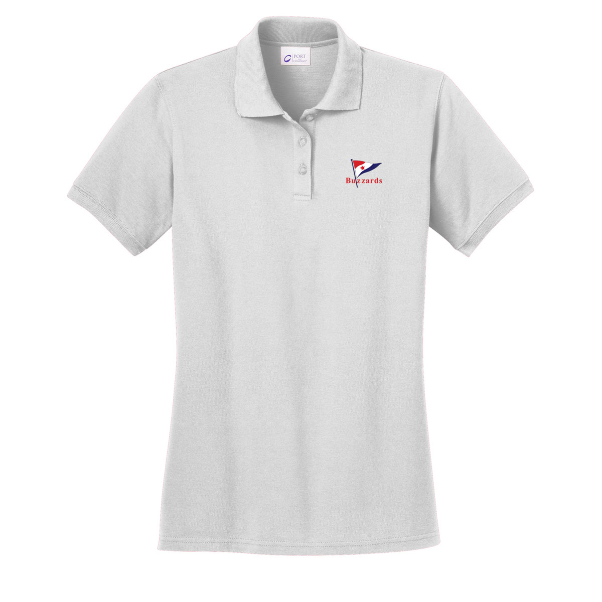 Buzzards Yacht Club - Women's Cotton Polo (BUZ102)