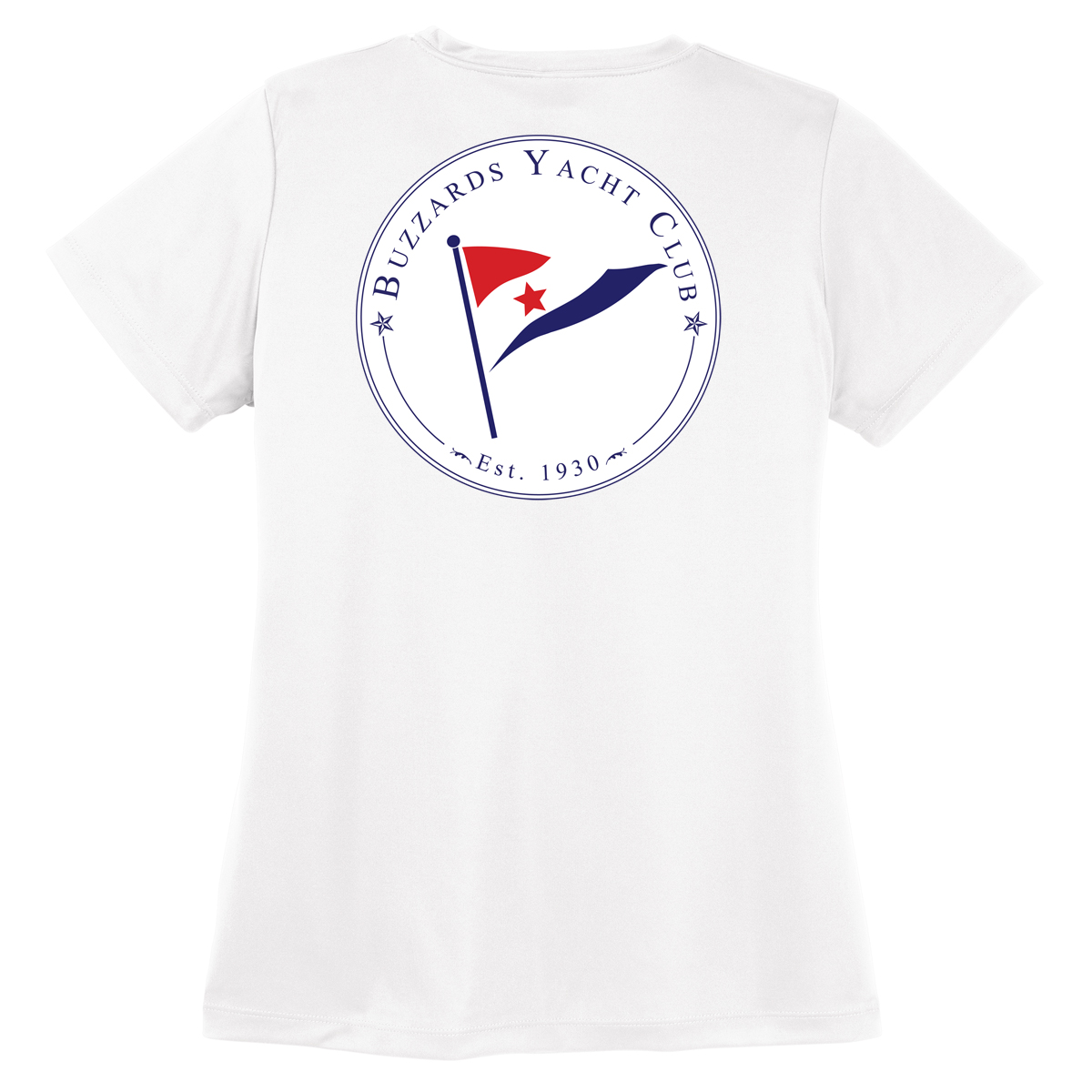 Buzzards Yacht Club - Women's Short Sleeve Tech Tee (BUZ212)