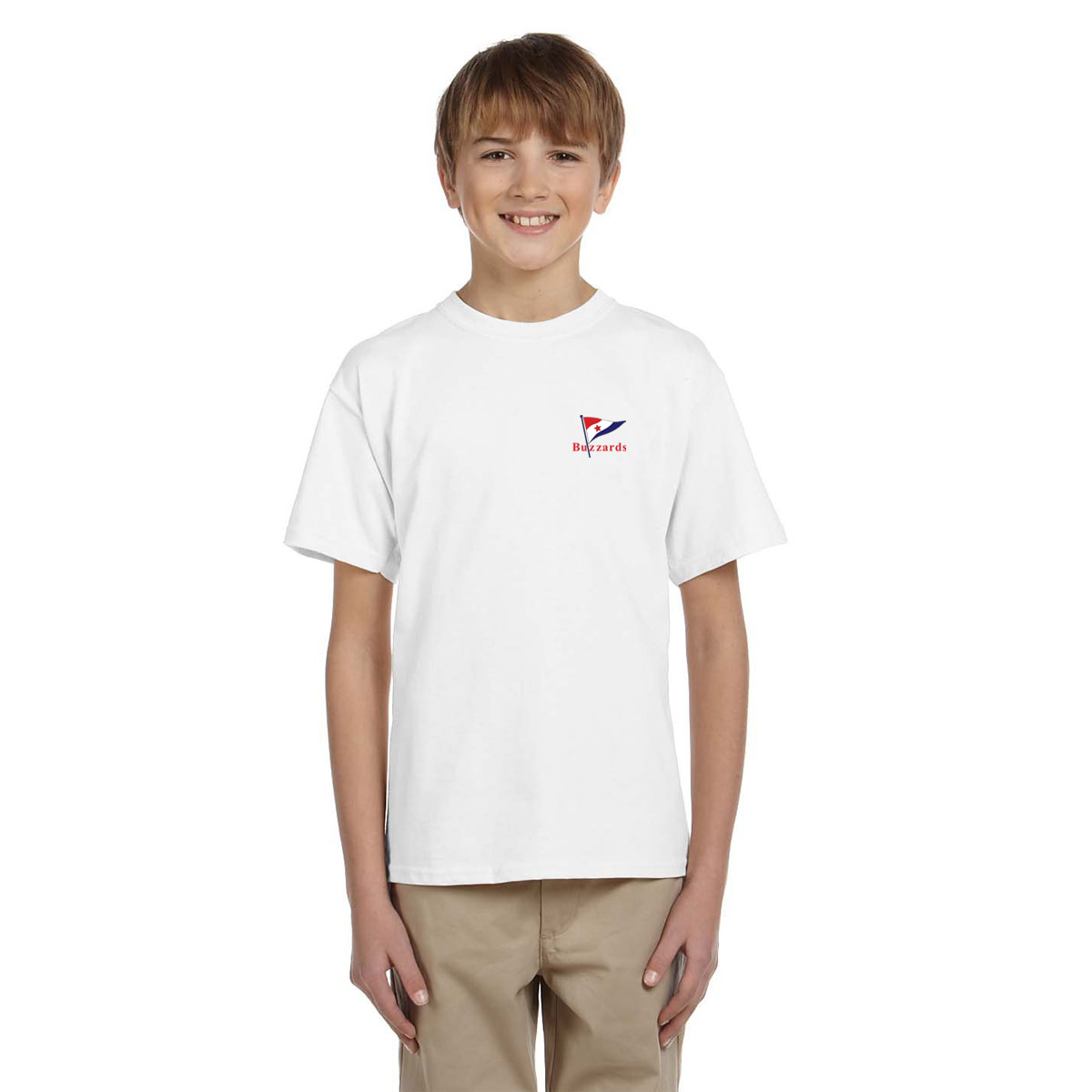 Buzzards Yacht Club -  Kid's Short Sleeve Cotton Tee (BUZ203)