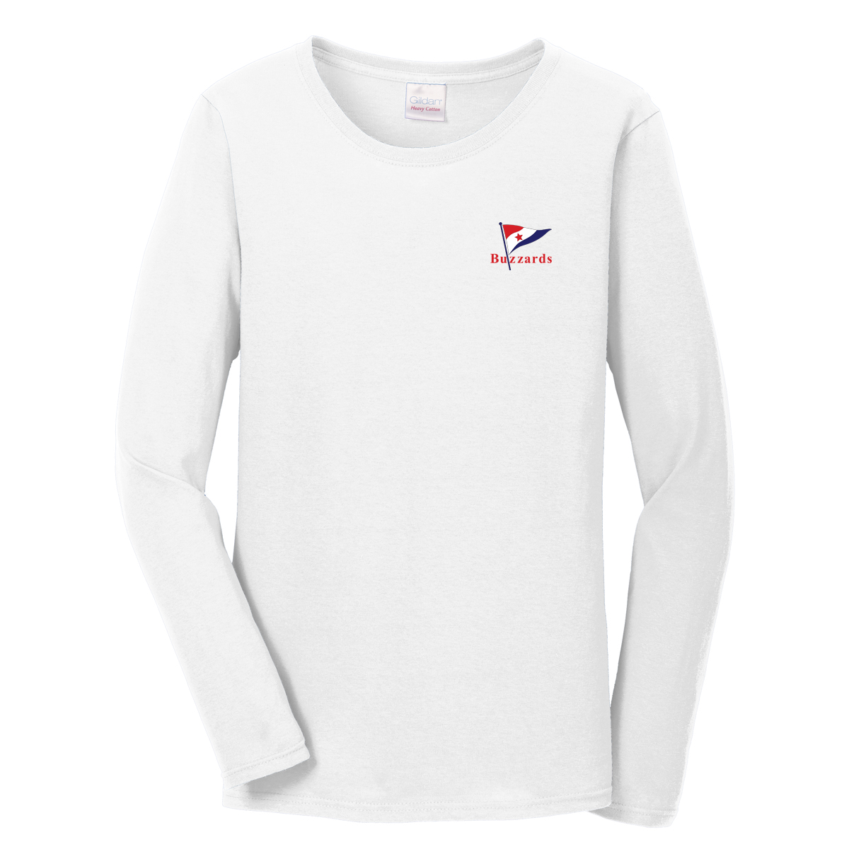 Buzzards Yacht Club - Women's Long Sleeve Cotton Tee (BUZ205)