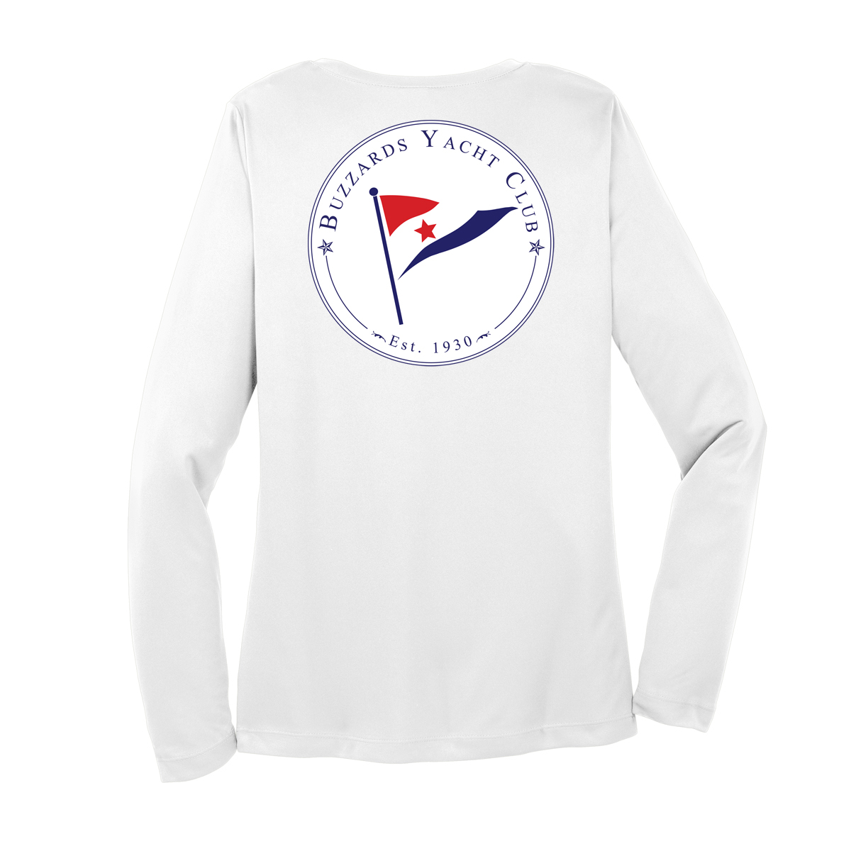 Buzzards Yacht Club - Women's Long Sleeve Junior Member V-Neck Cotton Neck (BUZ224)