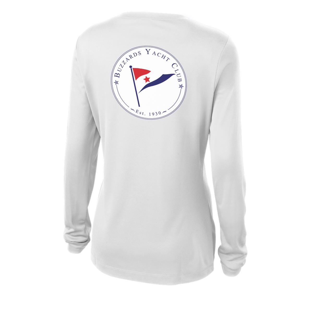 Buzzards Yacht Club - Women's Long Sleeve Junior Member Cotton Tee (BUZ225)