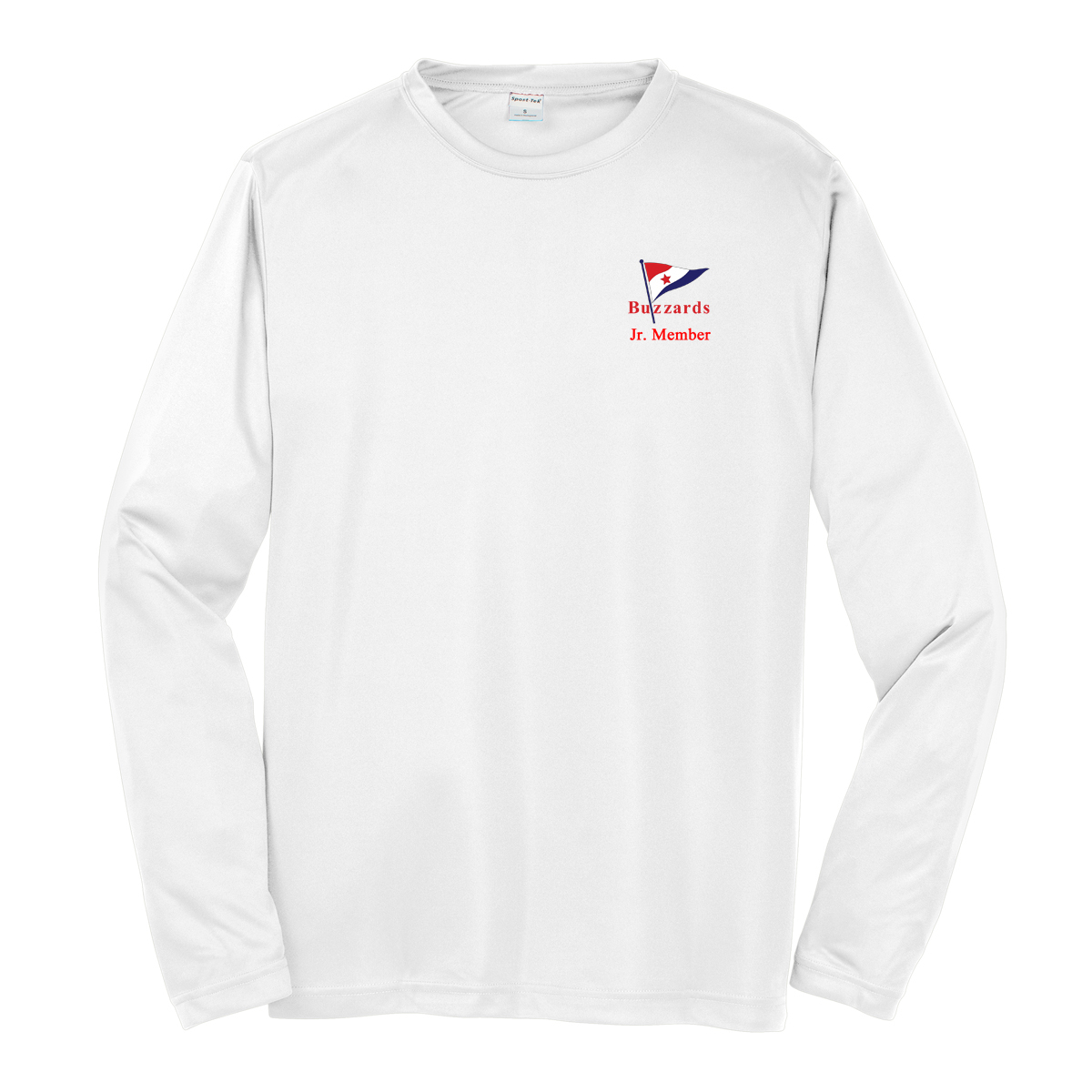 Buzzards Yacht Club - Kid's Long Sleeve Junior Member Cotton Tee (BUZ226)