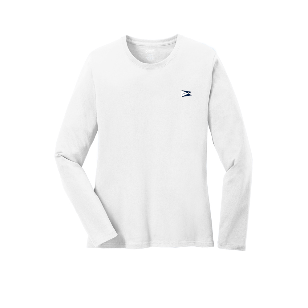CENTERBOARD YACHT CLUB  W'S L/S COTTON TEE