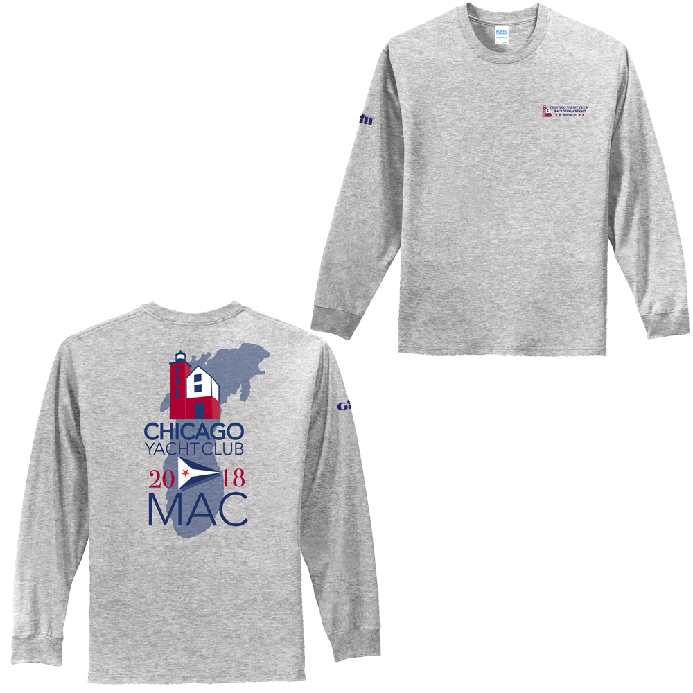 Chicago Mackinac Race 2018 - Men's Long Sleeve Cotton Tee
