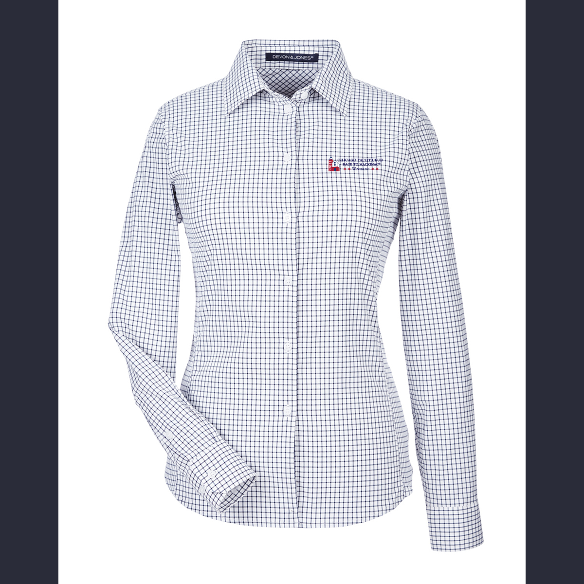 Chicago Mackinac Race 2018 - Ladies' Micro Windowpane Shirt