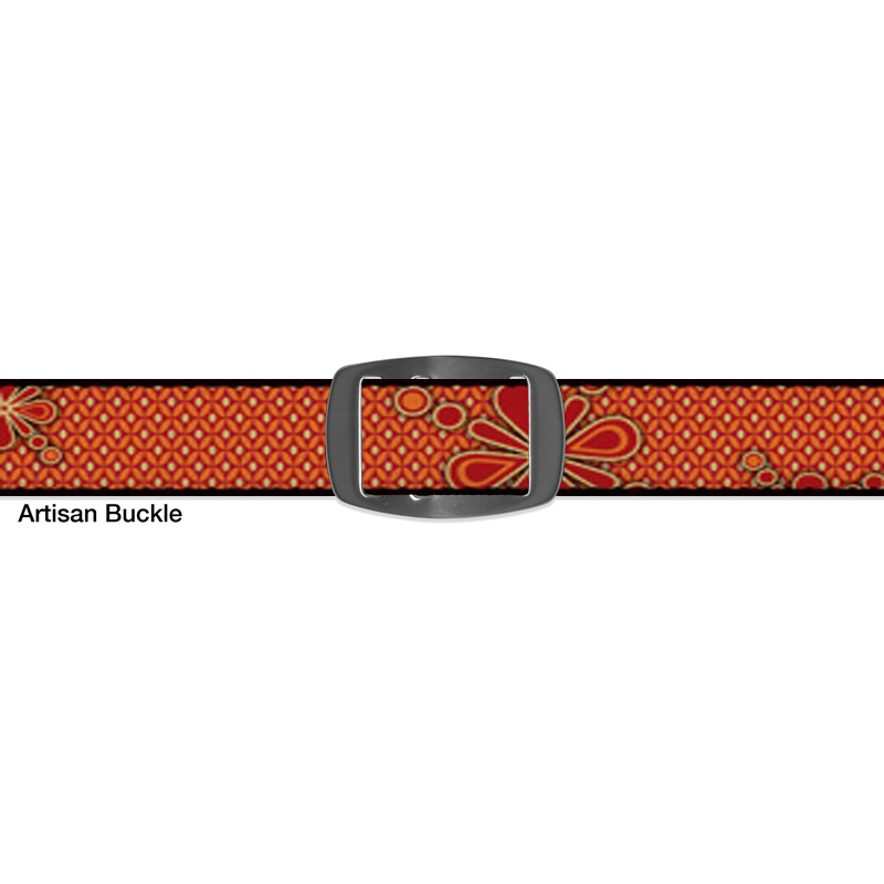 Croakies BELT RED SPLOT ARTISAN WIDE