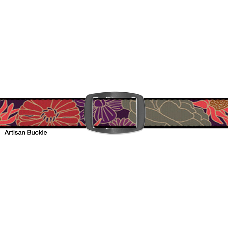 Croakies BELT DOODLE PURPLE ARTISAN NARROW