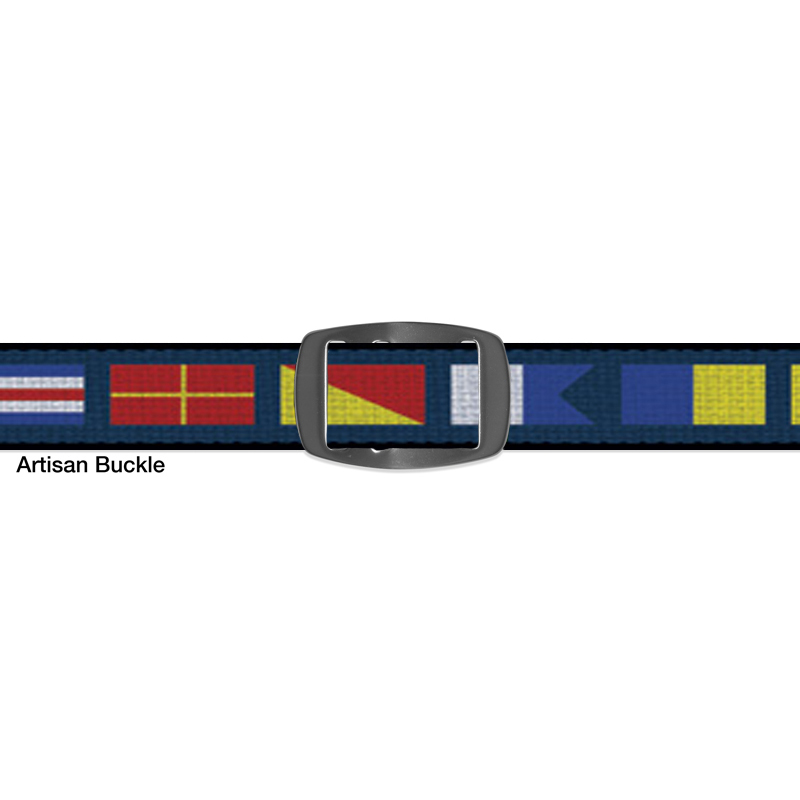 Croakies BELT NAUTICAL FLAGS NAVY ARTISAN NARROW