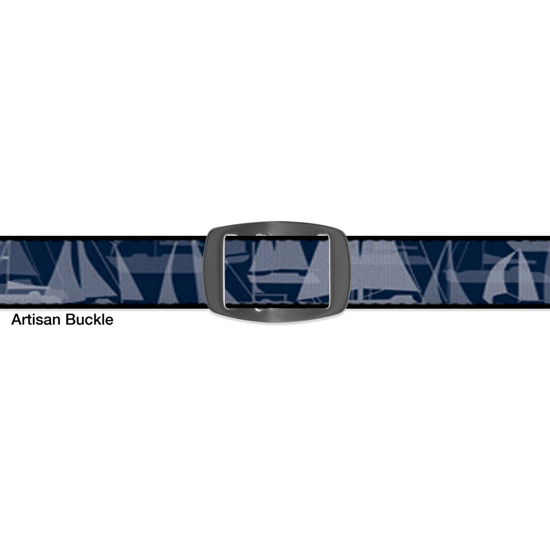 Croakies BELT SAILBOAT NAVY ARTISAN NARROW