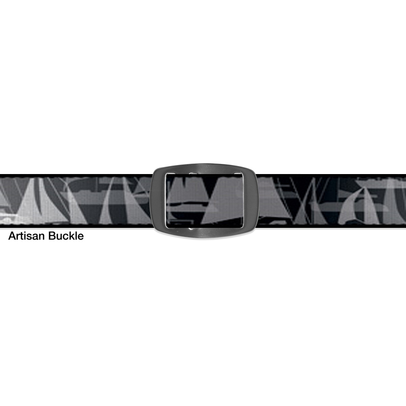 Croakies BELT SAILBOAT GREY ARTISAN NARROW
