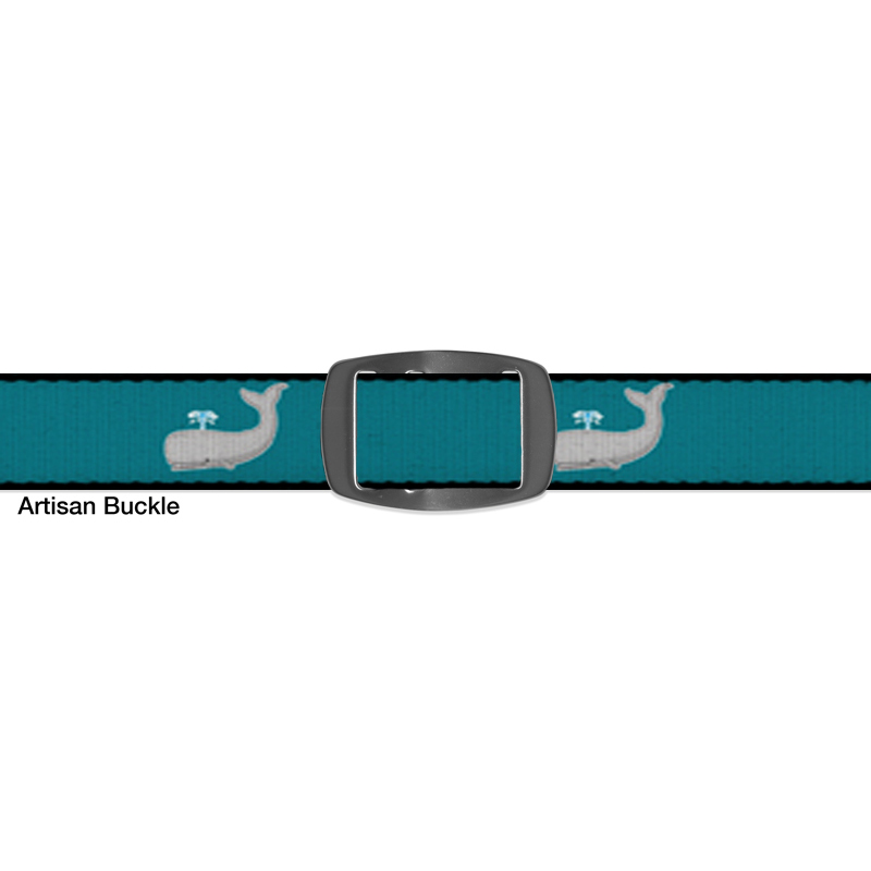 Croakies BELT SPERM WHALE TEAL ARTISAN BUCKLE NARROW