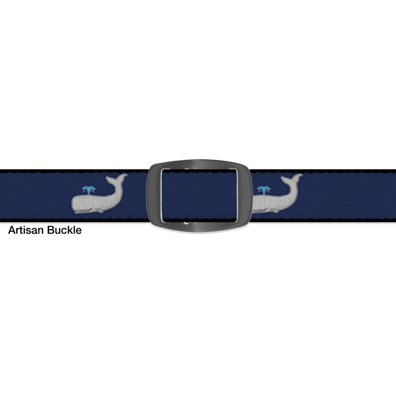 Croakies BELT SPERM WHALE NAVY ARTISAN BUCKLE NARROW