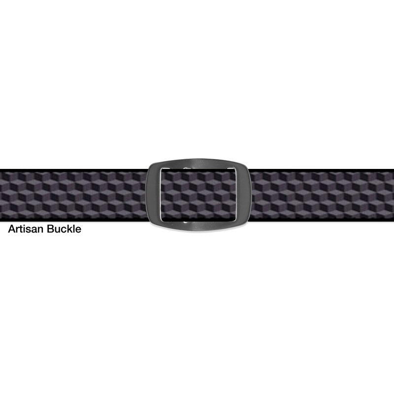 Croakies BELT CUBED GREY ARTISAN NARROW