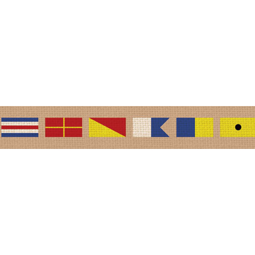Croakies A2 Artisan Buckle - Nautical Flags Khaki (CROBA2A1401M)