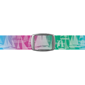 Croakies A2 Artisan Buckle - Sailboats Pink (BA2A1412M)