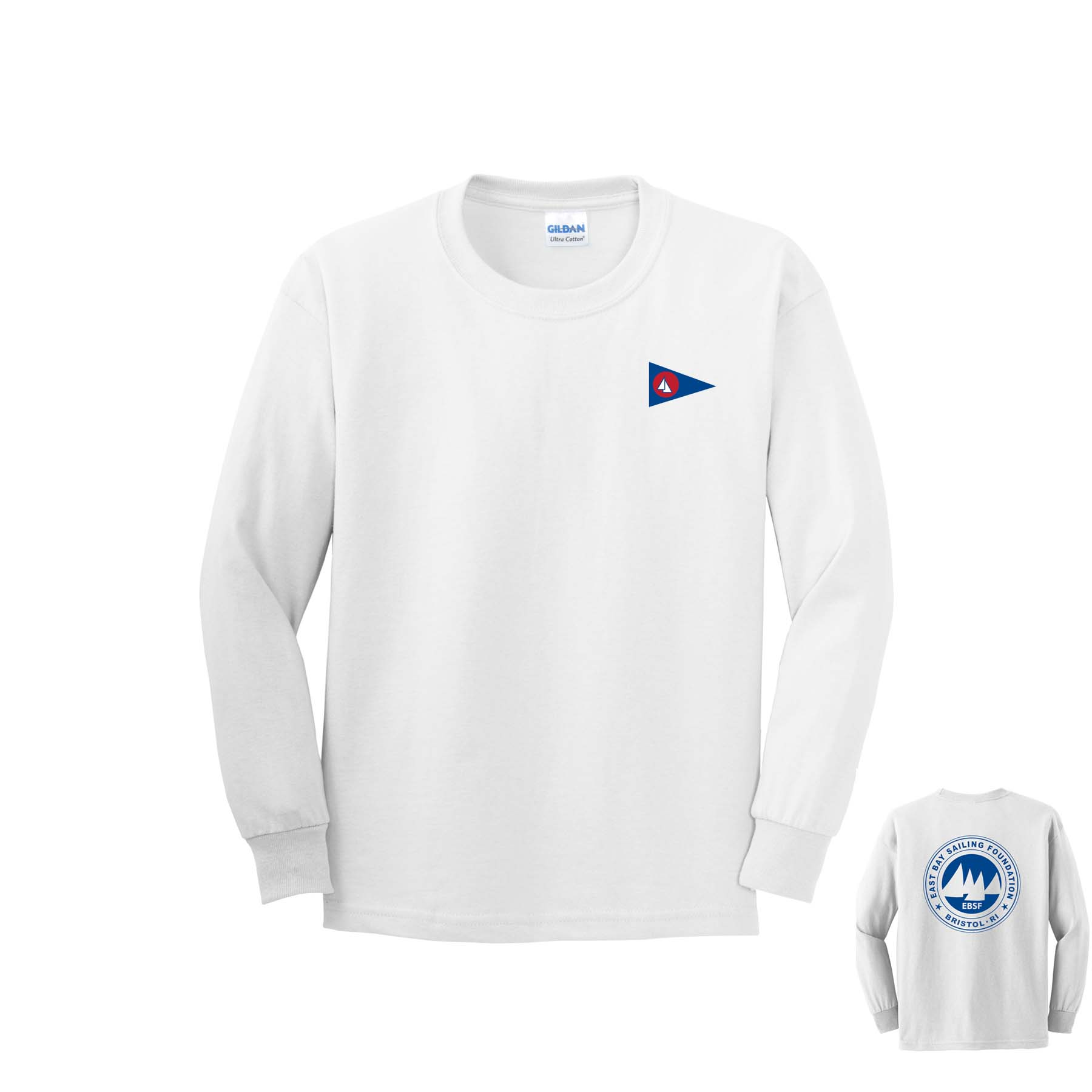 East Bay Sailing Foundation - Youth Long Sleeve Cotton Tee