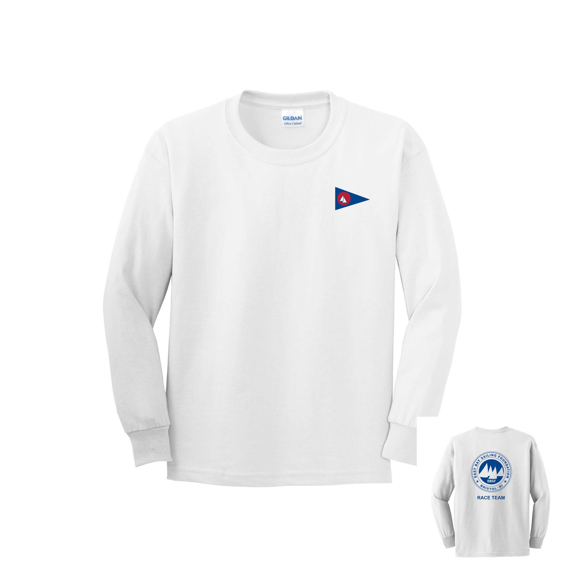 East Bay Sailing Foundation - Youth Race Team Long Sleeve Cotton Tee