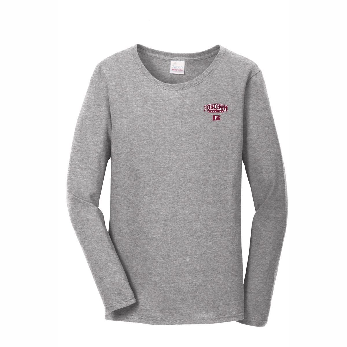 Fordham University Sailing - Men's Long Sleeve Cotton Tee