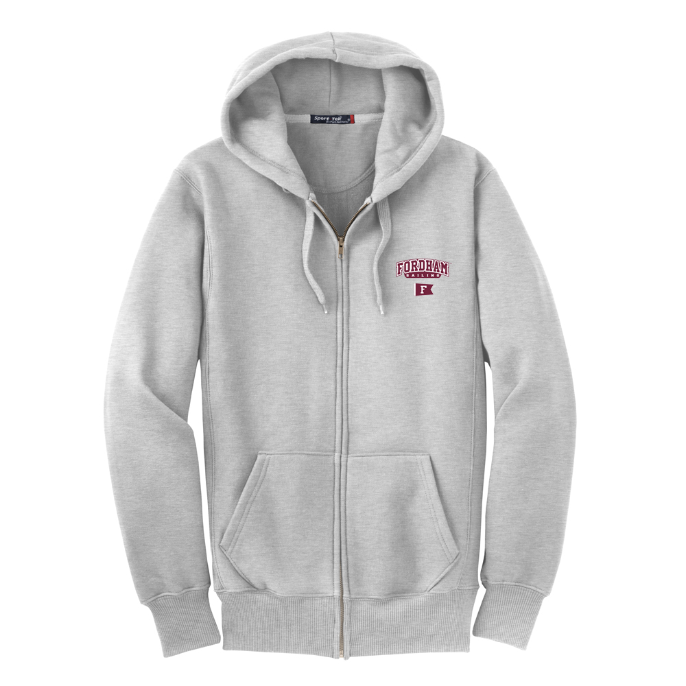Fordham University Sailing - Full Zip Hooded Sweatshirt