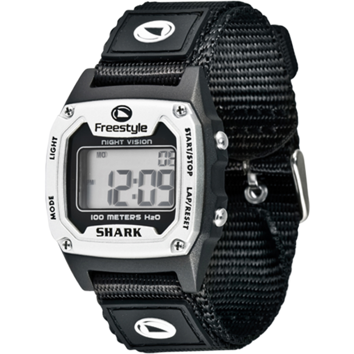 FREESTYLE SHARK CLASSIC SILVER/BLK NYLON (10006549)