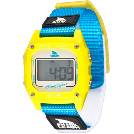 FREESTYLE SHARK CLASSIC LEASH YELLOW/CYAN (10006678)