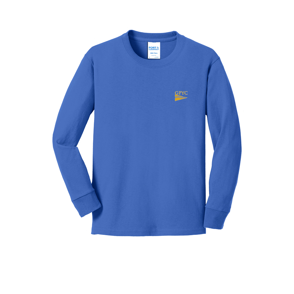 Great Pond Yacht Club - Youth Long Sleeve Cotton Tee