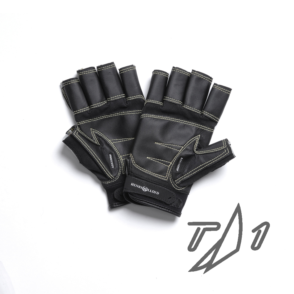 HENRI-LLOYD STEALTH  MAXIGRIP SHORT FINGER GLOVES (Y80031)