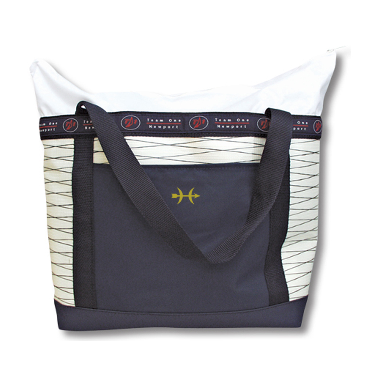 Hunt Yachts- Zippered Sailcloth Tote