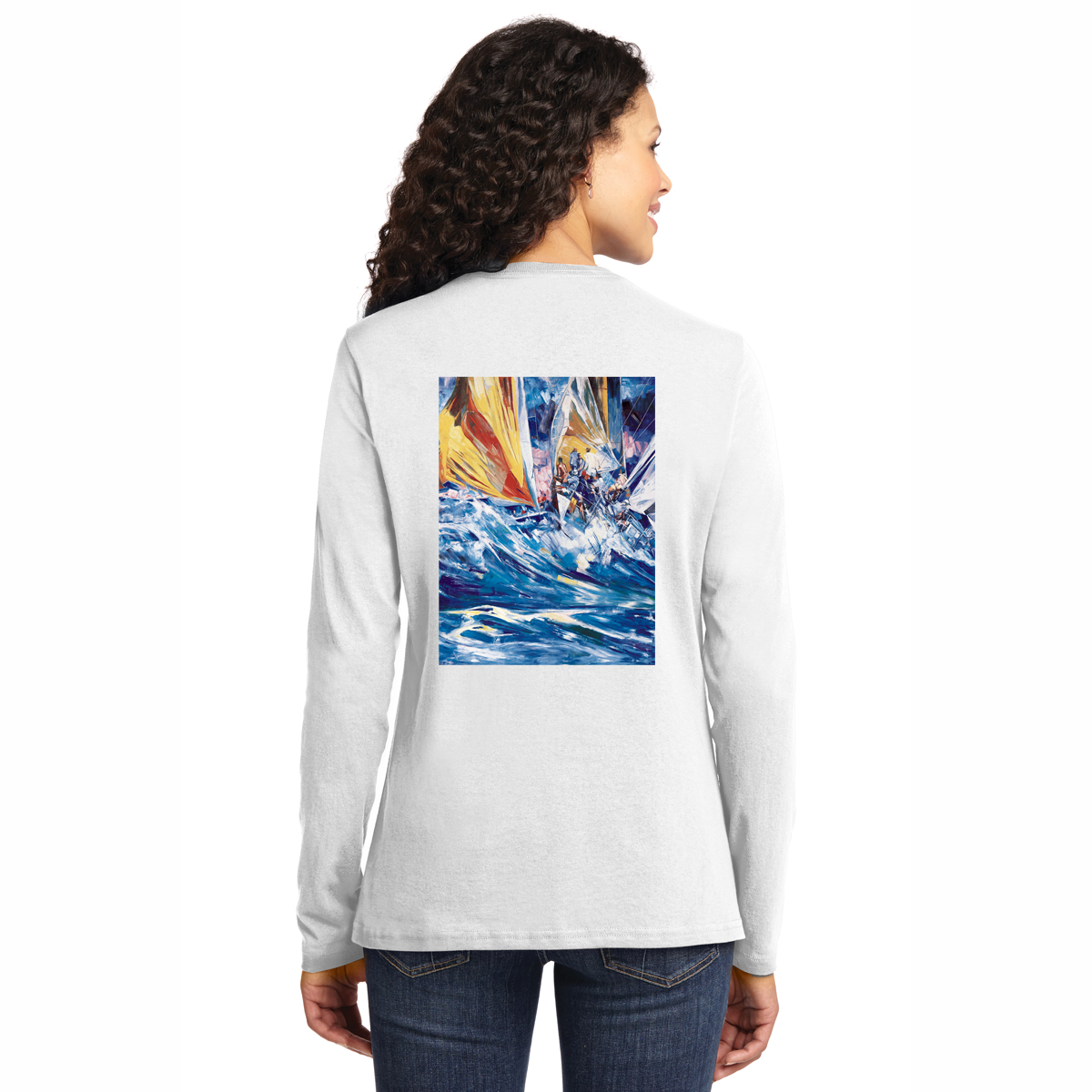 HOSPICE REGATTAS W'S L/S COTTON TEE