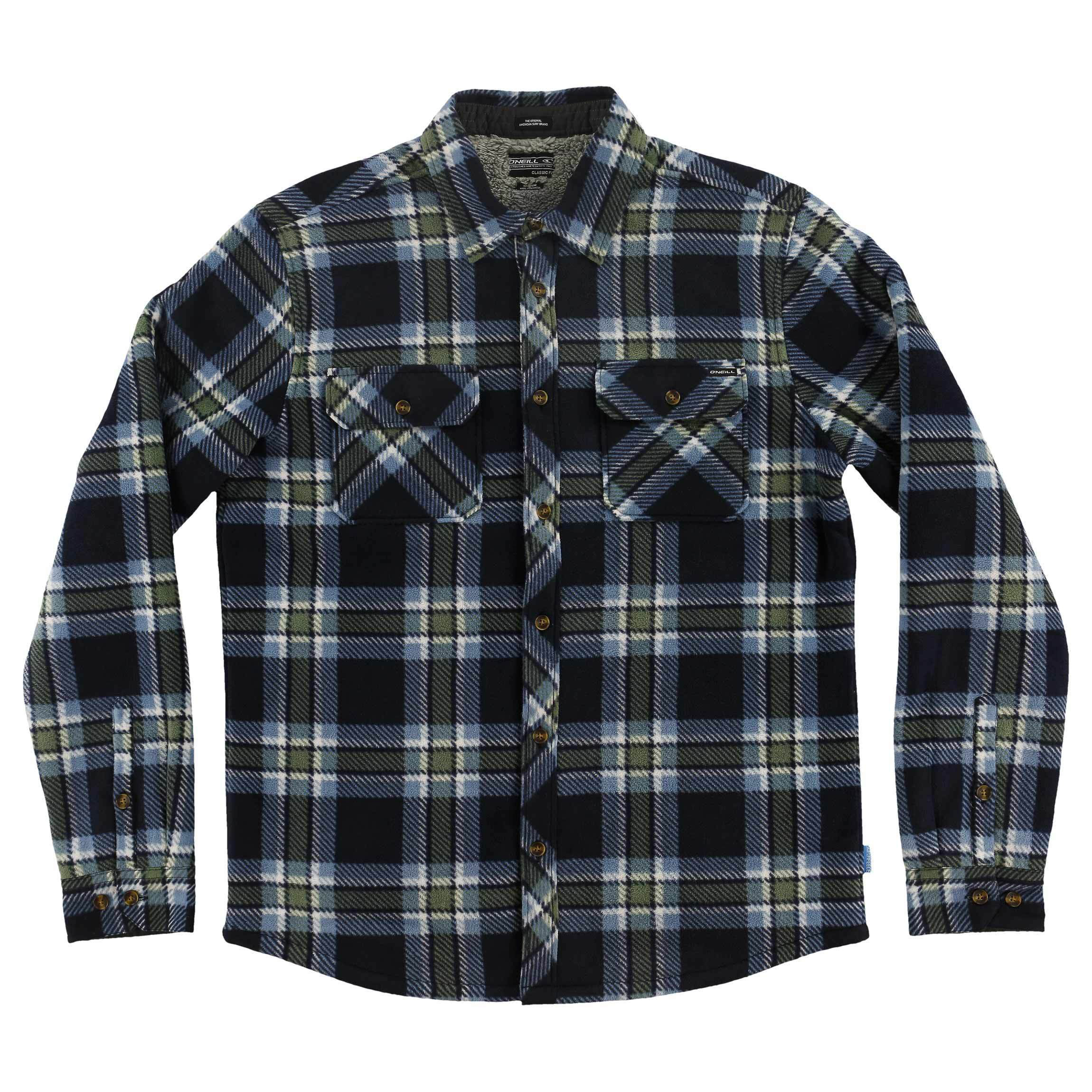 O'NEILL GLACIER HEAT DOME SUPERFLEECE FLANNEL SHIRT (HO7104210)