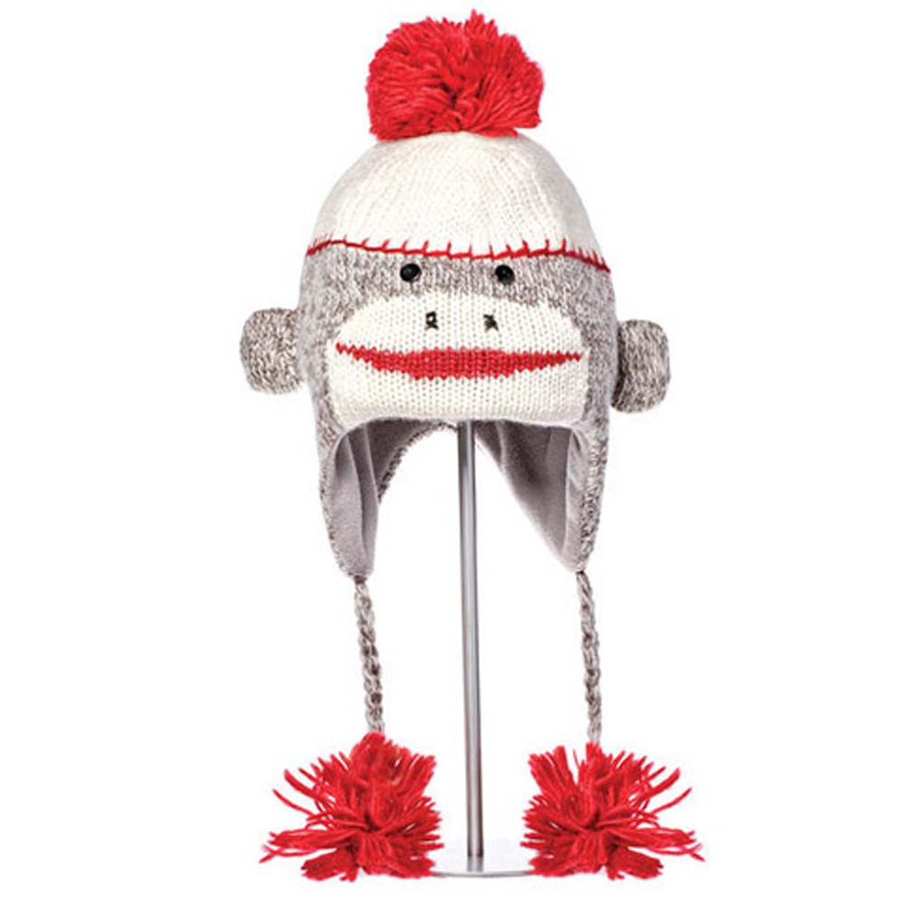 CUTE SOCK MONKEY PILOT HAT