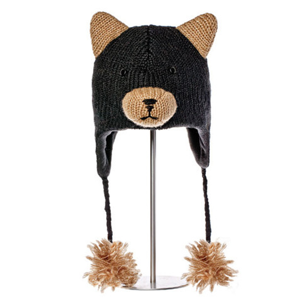 KNITWITS ORIGINALS BABU THE BLACK BEAR  HAT (AK1379)