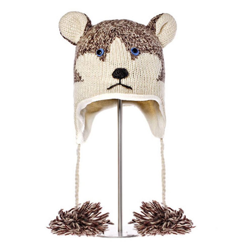 KNITWITS ORIGINALS HAPPY THE HUSKY HAT (AK1409)