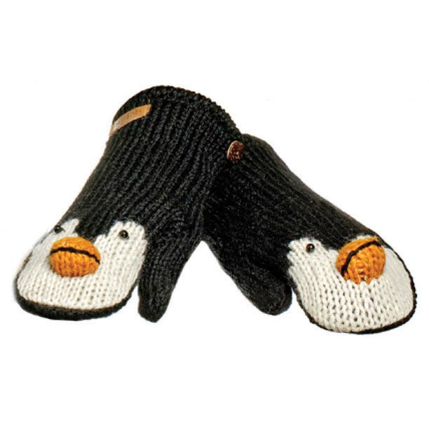 KNITWITS PEPPY THE PENGUIN MITTENS (AK2029)