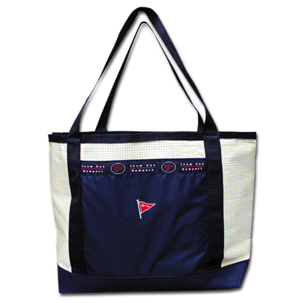 KEYPORT YACHT CLUB ZIP TOP SAILCLOTH TOTE