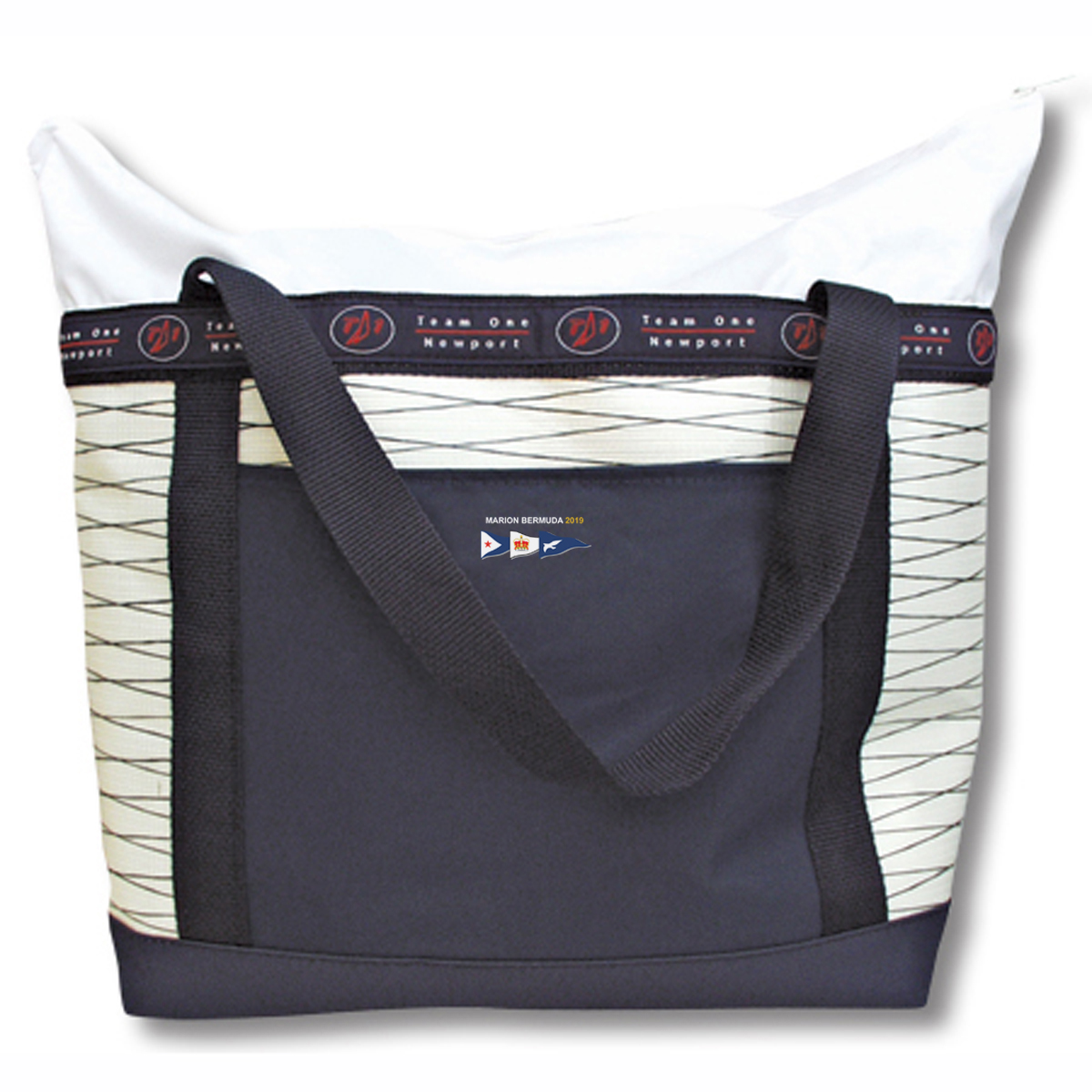 MBR 19 SAIL CLOTH ZIPPERED TOTE