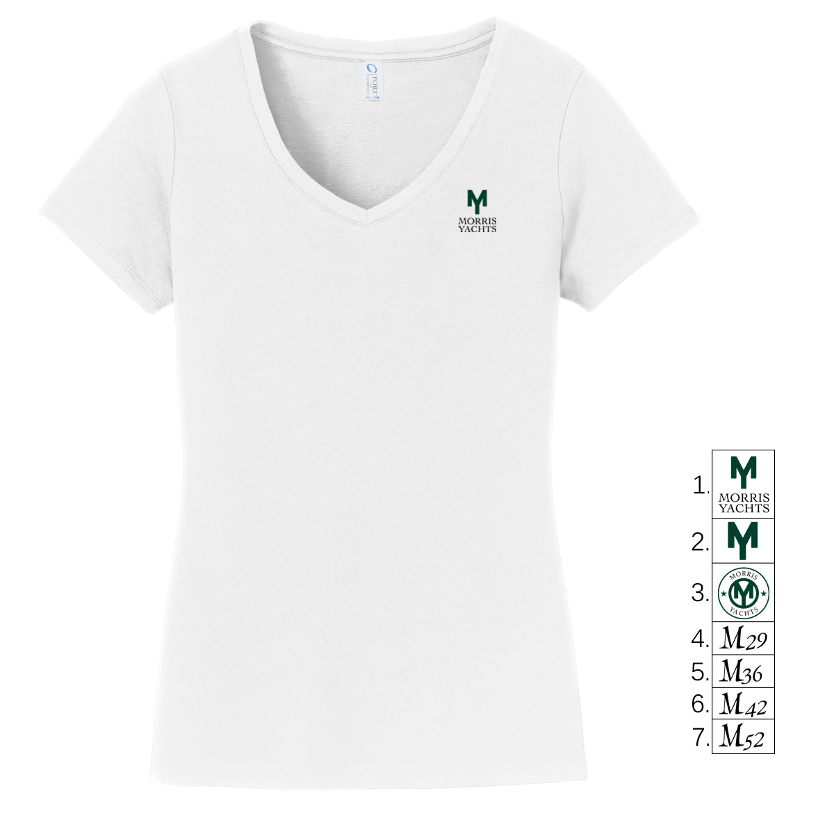 MORRIS YACHTS - LADIES V-NECK TEE