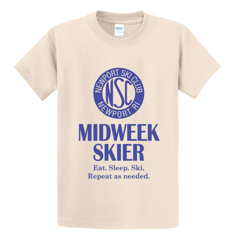 NEWPORT SKI CLUB - MIDWEEK - M'S S/S COTTON TEE